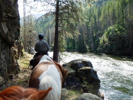 riding along the Selway river