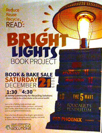 Bright Lights Book Sale Flyer