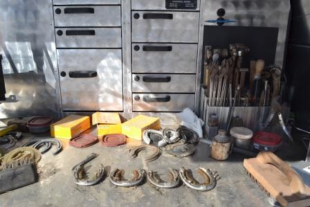 A farrier's tools