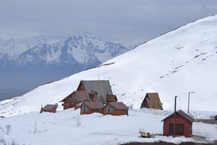 Hatcher Pass Lodge, also known as the A-Frames